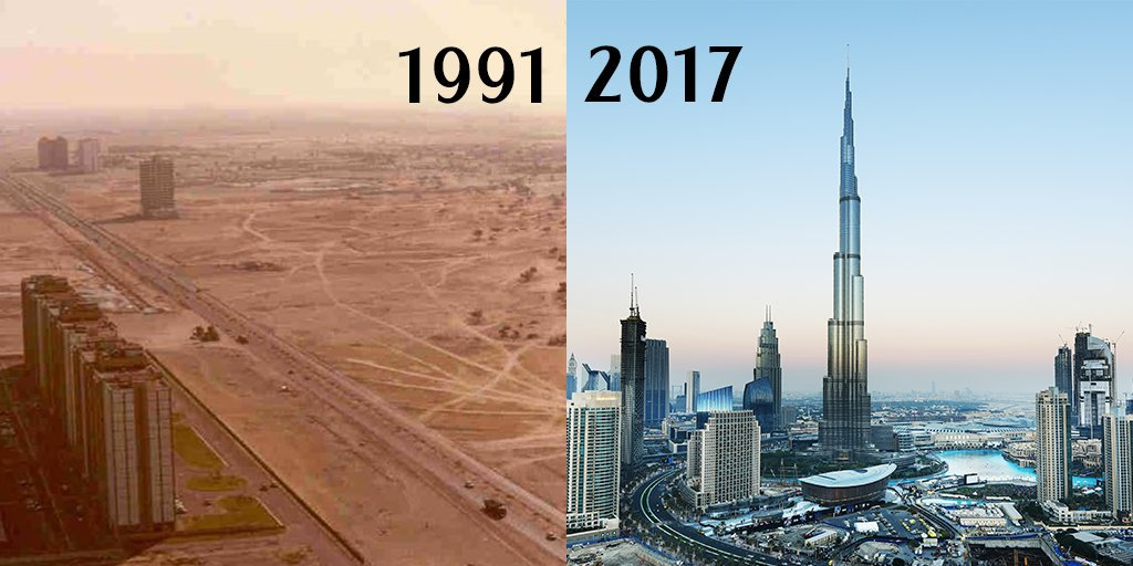 Dubai before and now