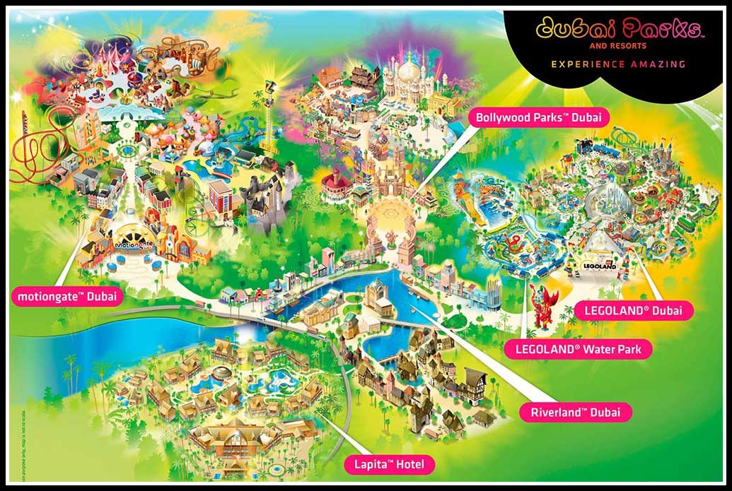 Карта Dubai Parks & Resorts